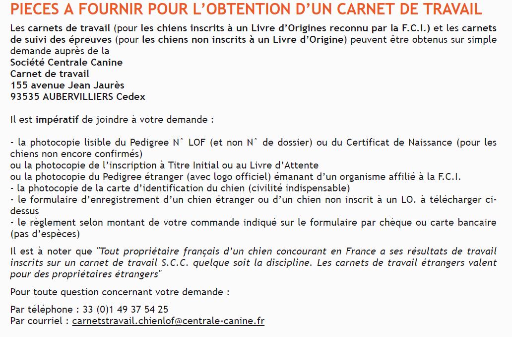 centrale canine aubervilliers horaires