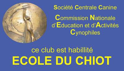 Plaque école du chiot